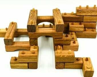 92 Wooden blocks boxed 3124