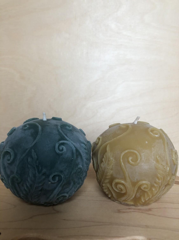 Rustic Fern Ball Candle - 3074