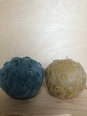 Rustic Fern Ball Candle - 3074