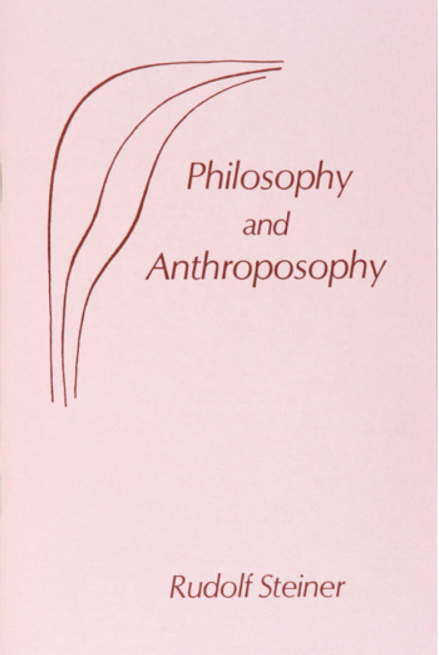 Philosophy and Anthroposophy B0949