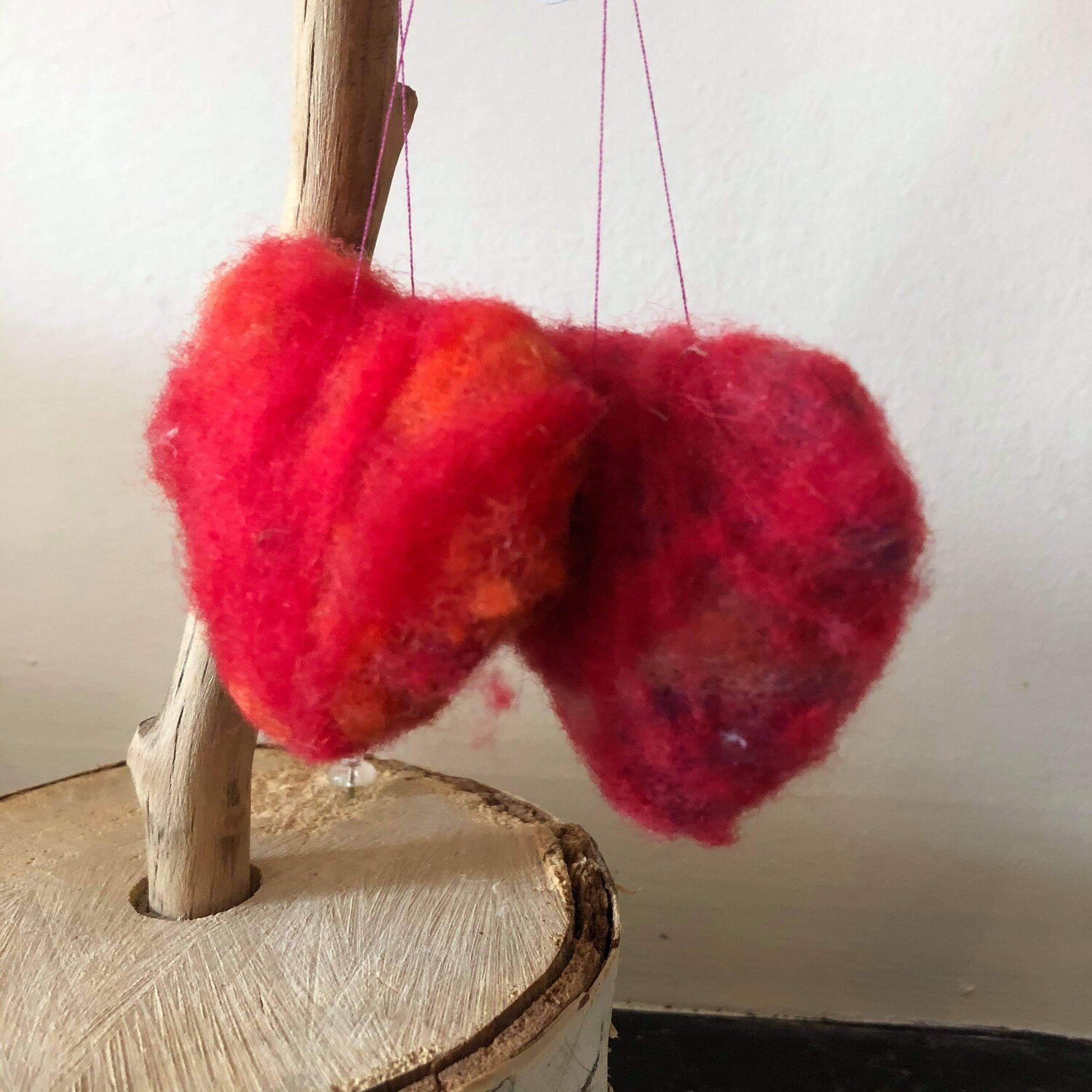 small wool wrapped hearts 1050