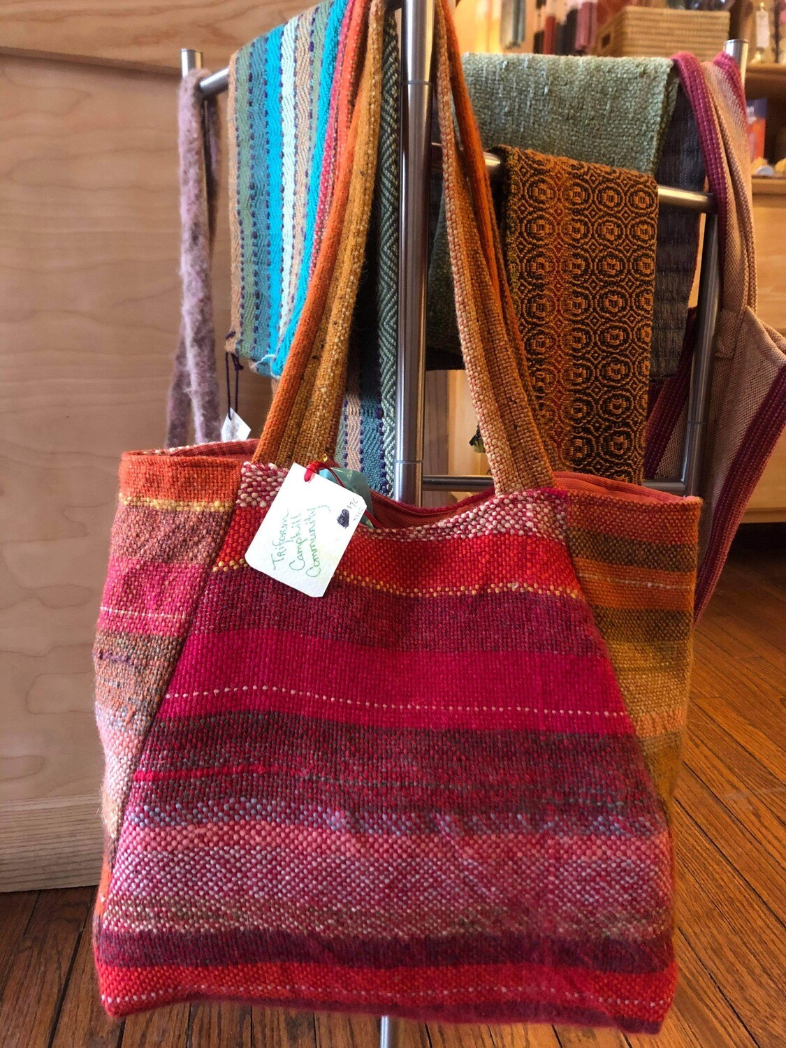 Woven lined bag - 3502
