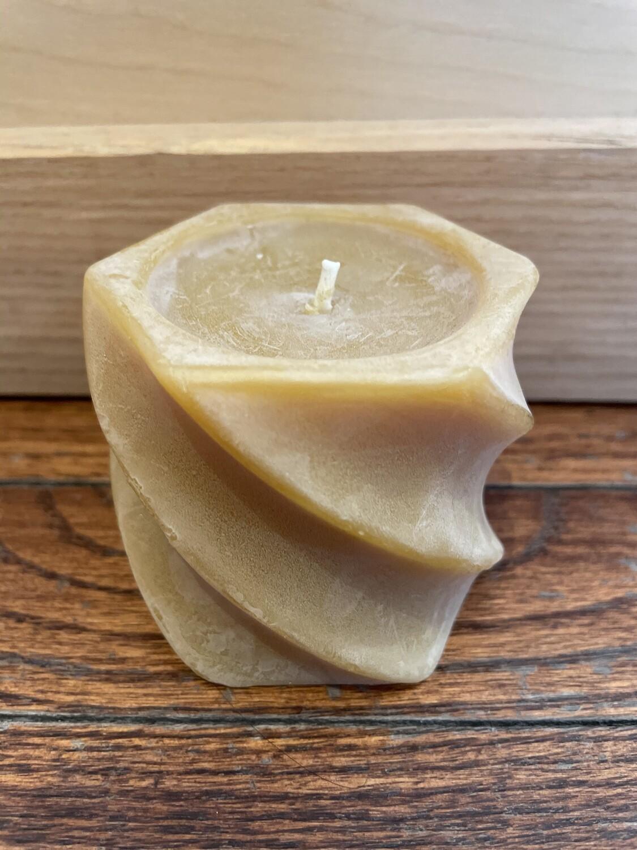 "Swirl Pillar Candle 2.5"" x2.25 3009"