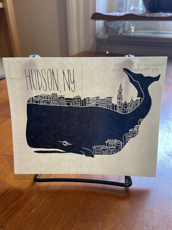 Whale postcard - 1011