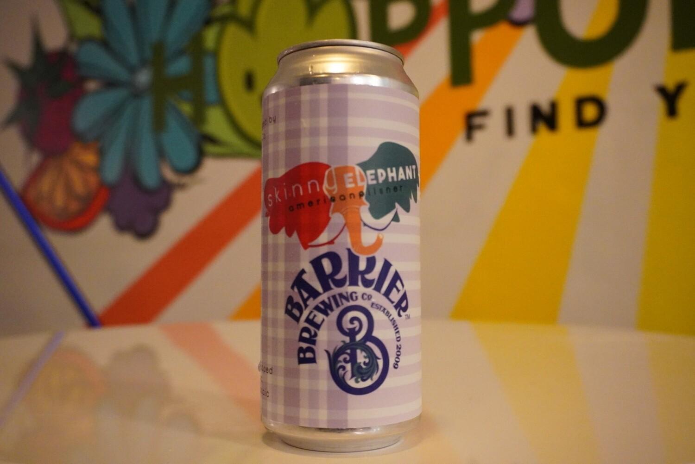 Barrier Brewing - Skinny Elephant - Pilsner - 4.6% ABV - 16oz Single Can