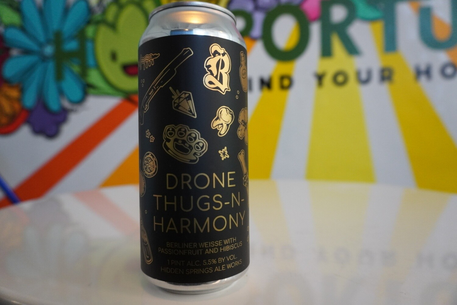 Hidden Springs Ale Works - Drone Thugs-N-Harmony - Sour - 5.5% ABV - 16oz Can