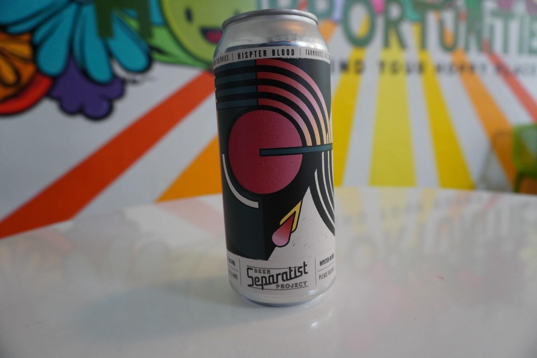 Separatist - Hipster Blood - Farmhouse Saisopn - 5% ABV - Single Can