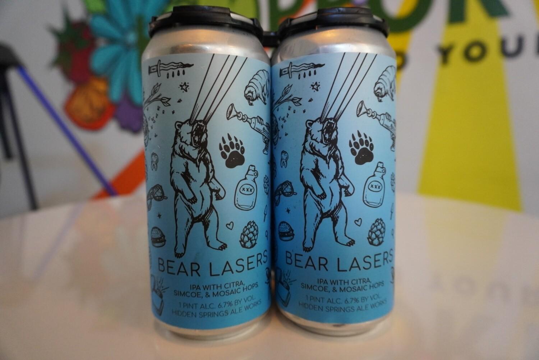 Hidden Springs Ale Works - Bear Lasers - Pale Ale - 5.4% - 4-Pack