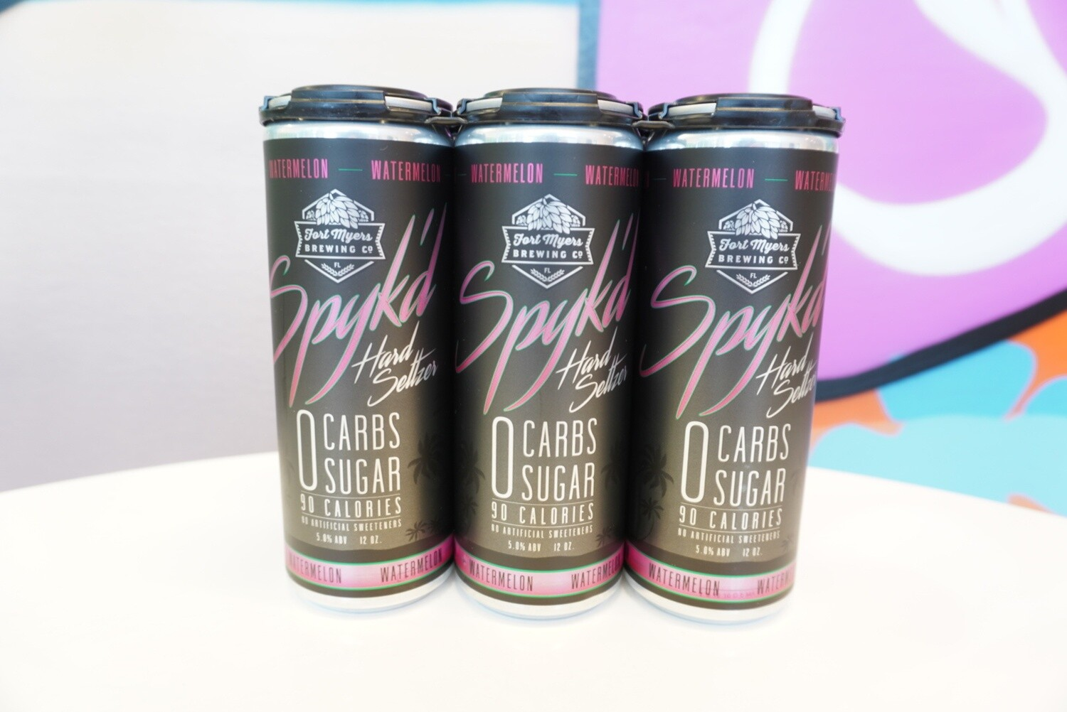 Fort Myers Brewing - Watermelon Spyk'd - Seltzer - 5% ABV - 4 Pack