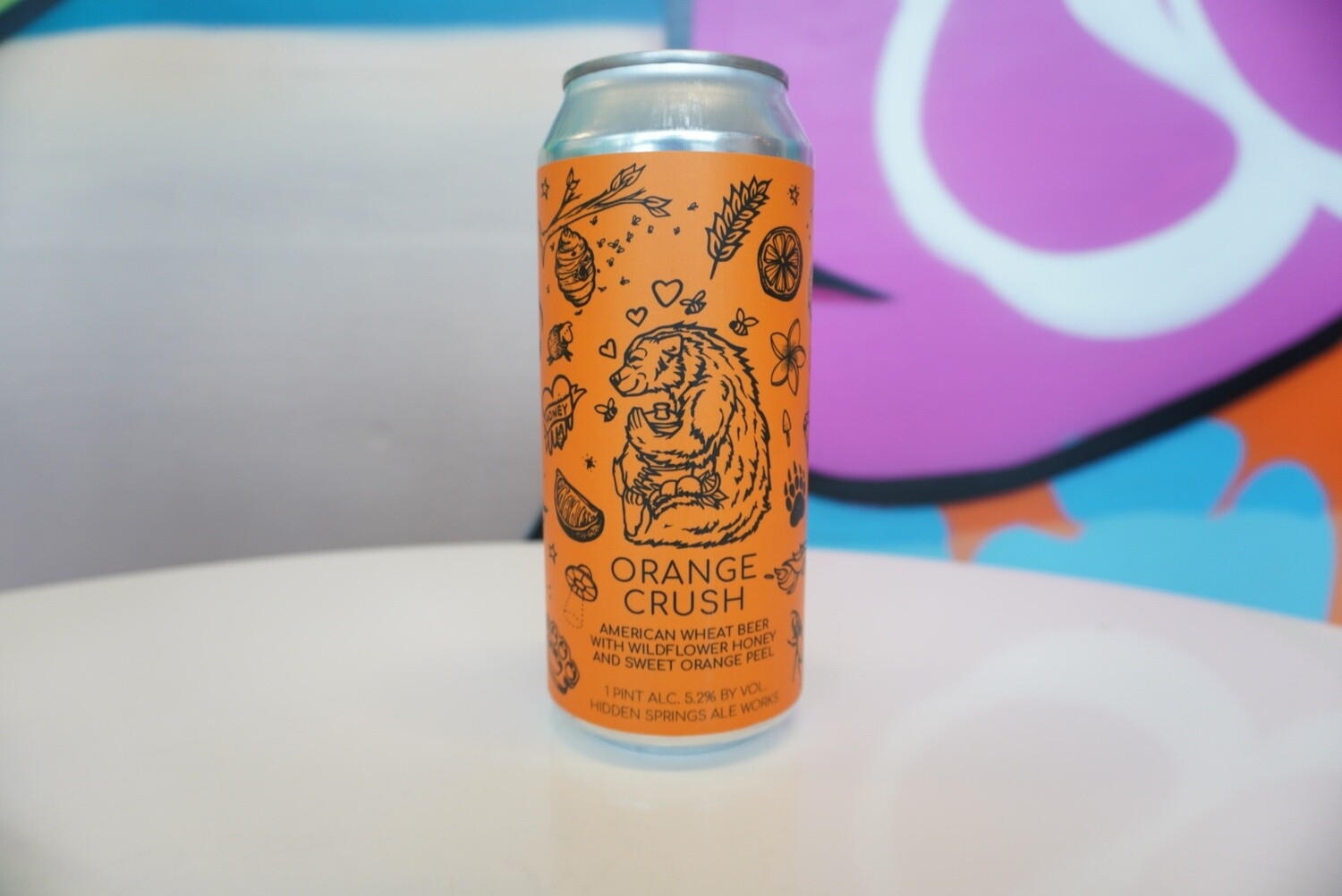 Hidden Springs Ale Works - Orange Crush - Wheat - 5.7% - 16oz Can