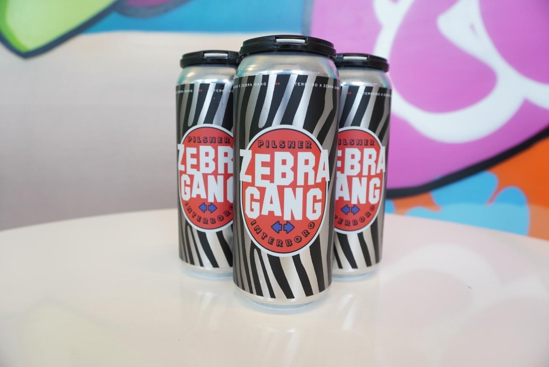 Interboro - Zebra Gang - Pilsner - 4.7% ABV - 4 Pack