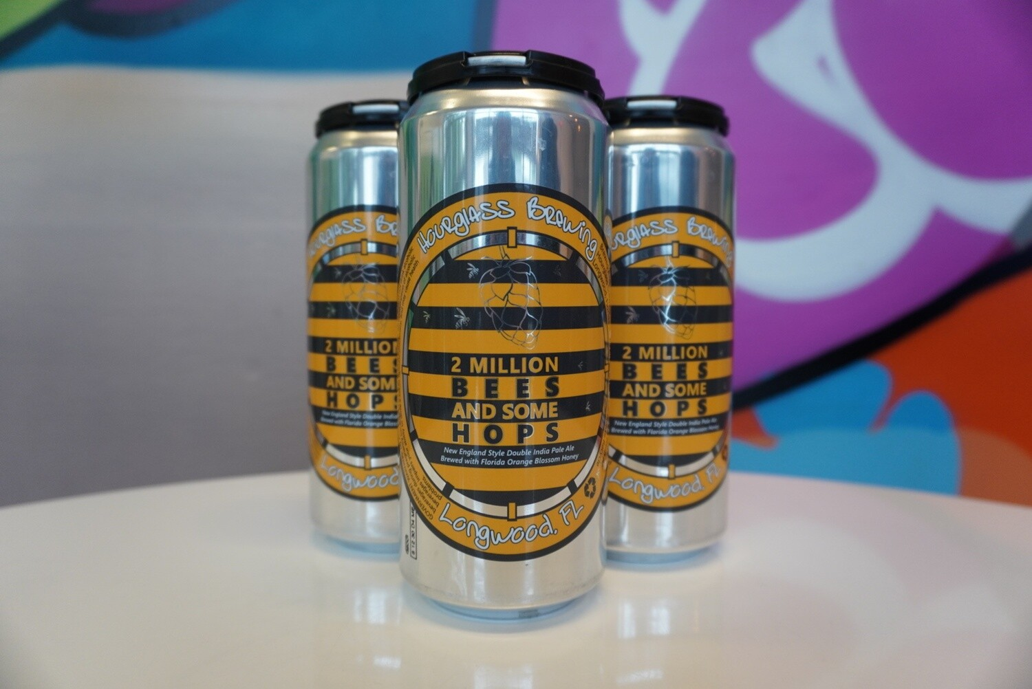 Hourglass Brewing - 2 Million Bees - Double New England IPA - 8.5% ABV - 4 Pack