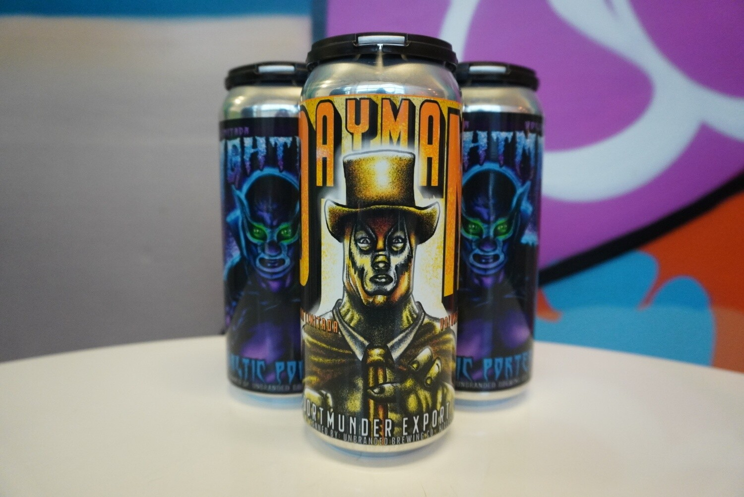 Unbranded Brewing - Dayman & Night Man - Lager and Porter Mixed 4 Pack