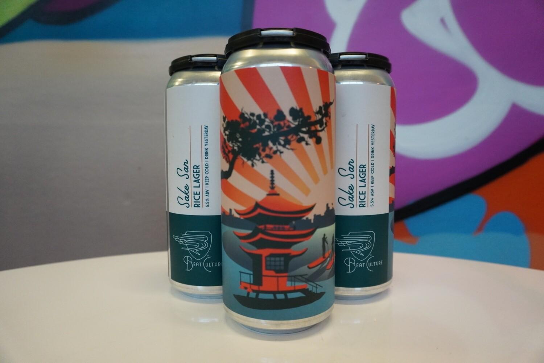 Beat Culture - Saken San - Rice Lager - 5.5% ABV - 4 Pack