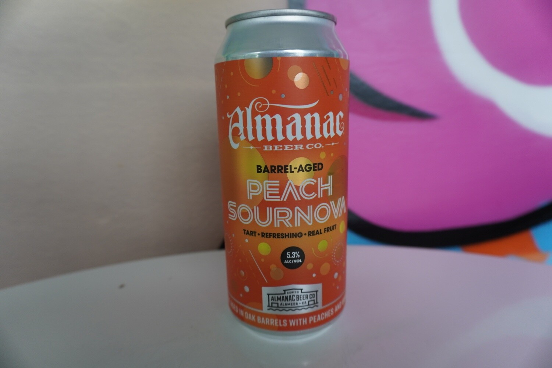 Almanac - Peach Sournova - Sour - 5.8% ABV - 16oz Can