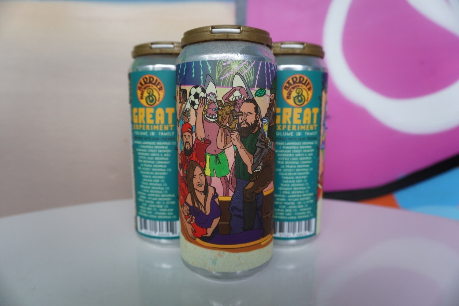 Barrier Brewing - The Great Experiment Volume 10  - New England IPA - 7.4% ABV - 4 Pack