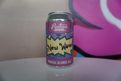 Pontoon - New Wave - Fruited Blonde - 4.2% ABV - 12oz Can