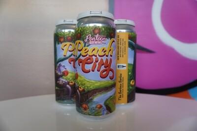 Pontoon - Peach City - IPA - 7.5% ABV - 4 Pack