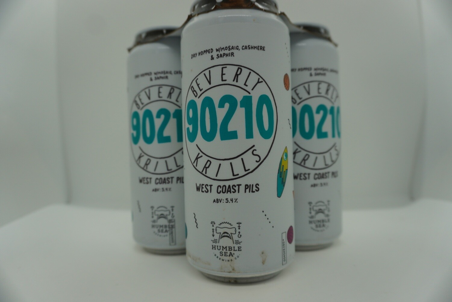 Humble Sea - Beverly Krills - West Coast Pilsner - 5.4% ABV - 4 Pack