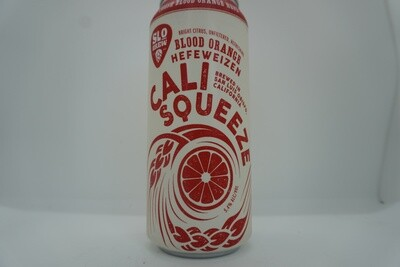 Slo Brewing - Cali Squeeze Blood Orange Hefe - Hefeweizen - 5.4% ABV - 16oz Can