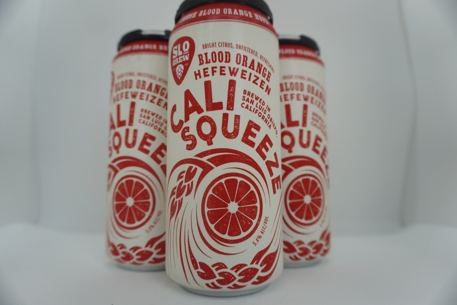 Slo Brewing - Cali Squeeze Blood Orange Hefe - Hefeweizen - 5.4% ABV - 4 Pack