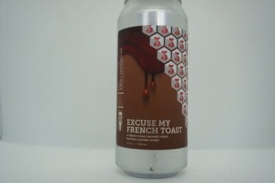 3 Sons - Excuse My French Toast - Stout - 7.5% ABV - 16oz Can