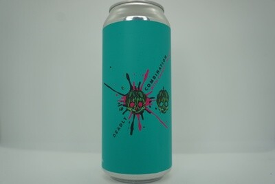 Barrier Brewing - Deadly Combination Galaxy and Mosaic - DDH NEIPA - 7.4% ABV - 16oz Can