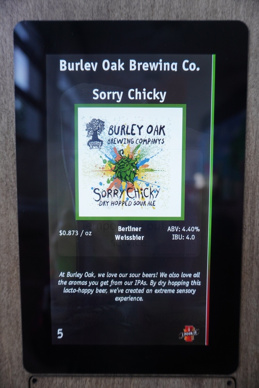 Burley Oak - Sorry Chicky - Sour - 4.4% ABV - 32oz Crowler (Can)