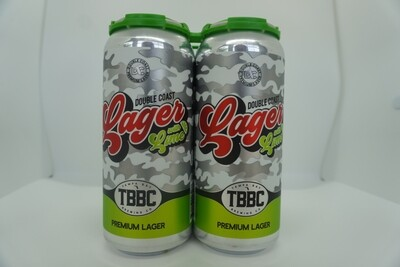 TBBC - Double Coast Lager w/Lime - 4.1% ABV - 4 Pack