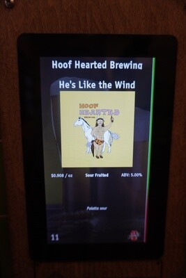 Hoof Hearted - He's Like The Wind - Sour - 5% ABV - 32oz Crowler (Can)