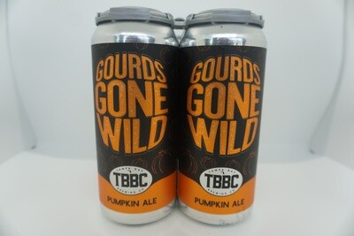 TBBC - Gourds Gone Wild - Pumpkin Beer - 5.5% ABV - 4 Pack