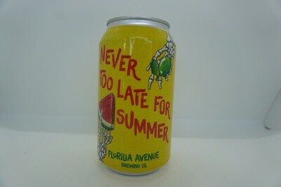Florida Ave - Never Too Late For Summer - Sour - 4% ABV - 12oz Can