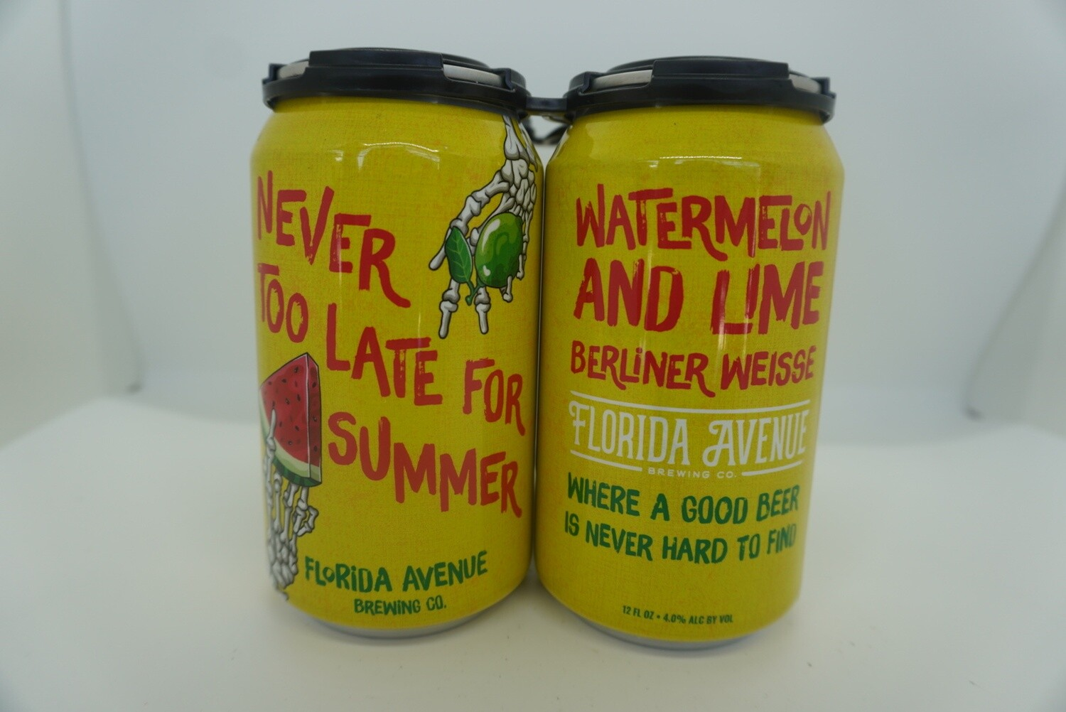 Florida Ave - Never Too Late For Summer - Sour - 4% ABV - 4 Pack