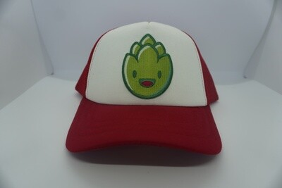 Red & White Hop Trucker Hat