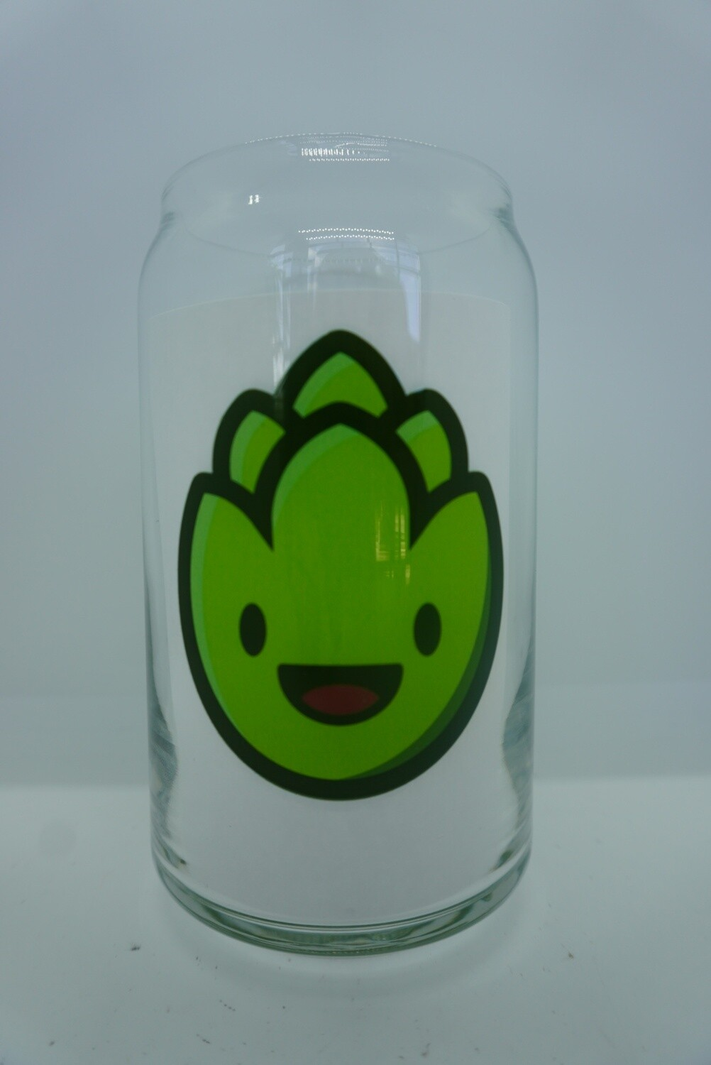 Hop Beer Can Glass