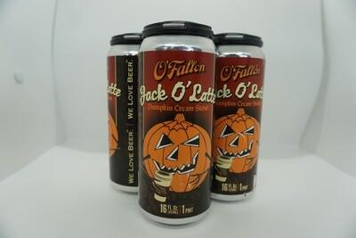 O'Fallon - Jack O Latte - Milk/Sweet Stout - 6.5% ABV - 4 Pack