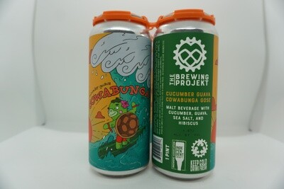 The Brewing Projekt - Cowabunga: Cucumber & Guava - Sour - 4.8% ABV - 4 Pack