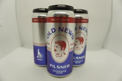 Lincoln's Beard - Old News Pilsner - Pilsner - 4.8% ABV - 4 Pack