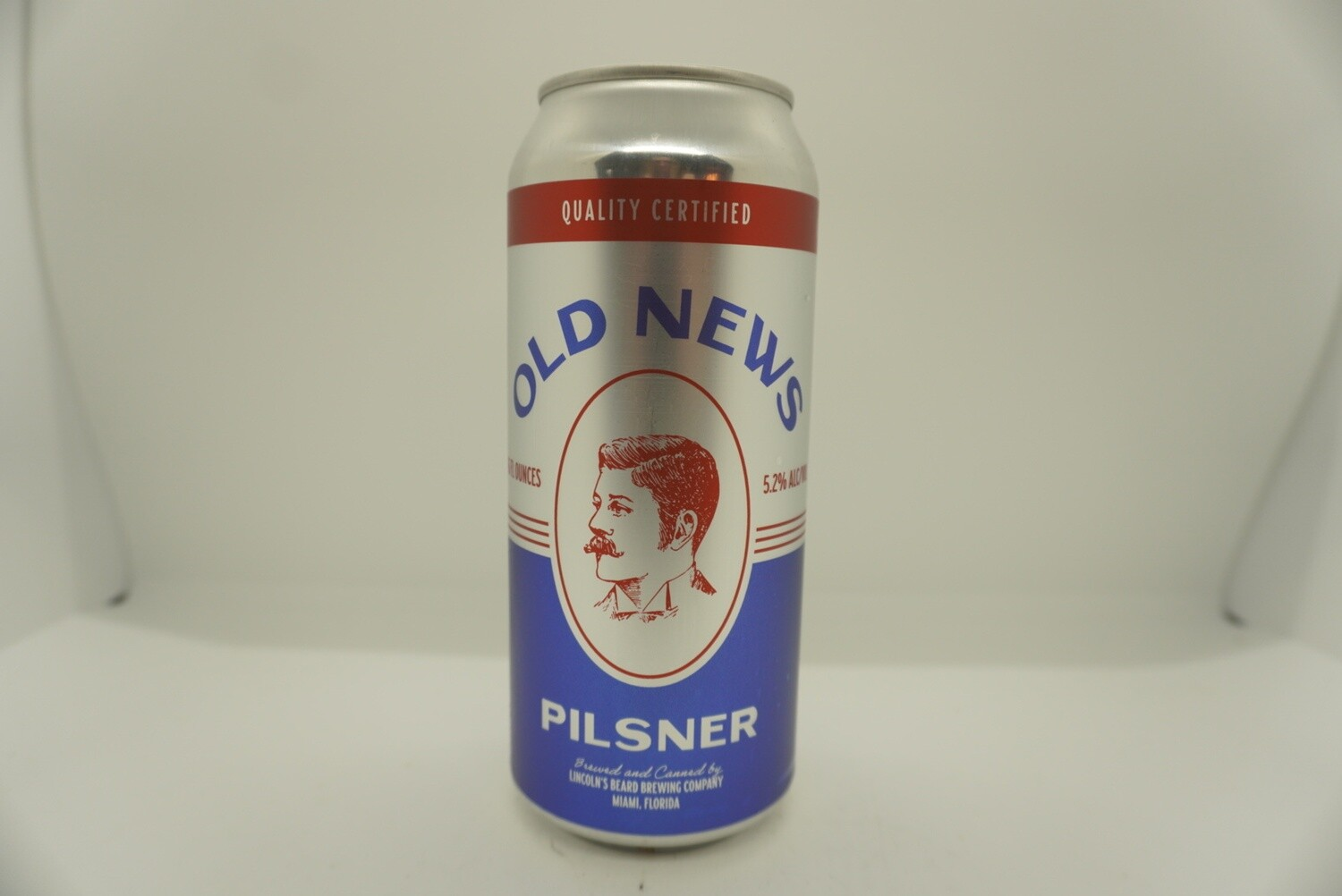 Lincoln's Beard - Old News Pilsner - Pilsner - 4.8% ABV - 16oz Can
