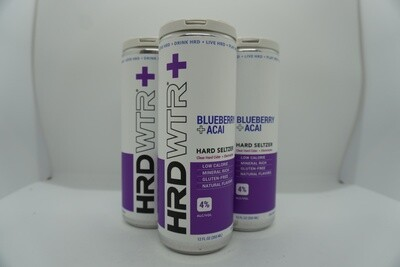 HRD WTR + Blueberry Açai - Seltzer - 4% ABV - 4 Pack
