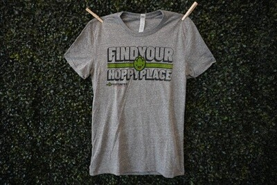 Grey Find Your Hoppy Place T-Shirt