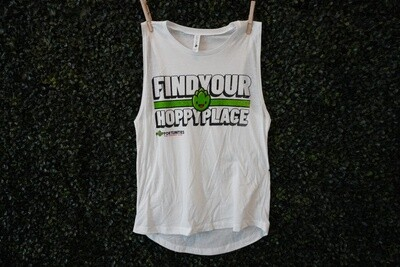 White Find Your Hoppy Place Tank