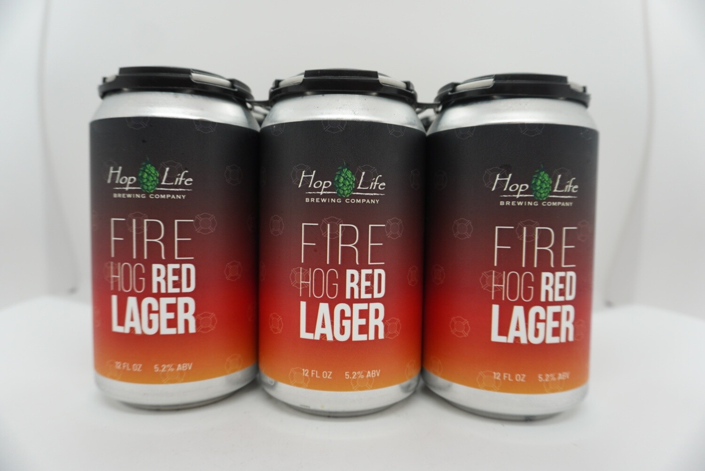 Hop Life - Fire Hog Red Lager - Lager - 4.8% ABV - 6 Pack