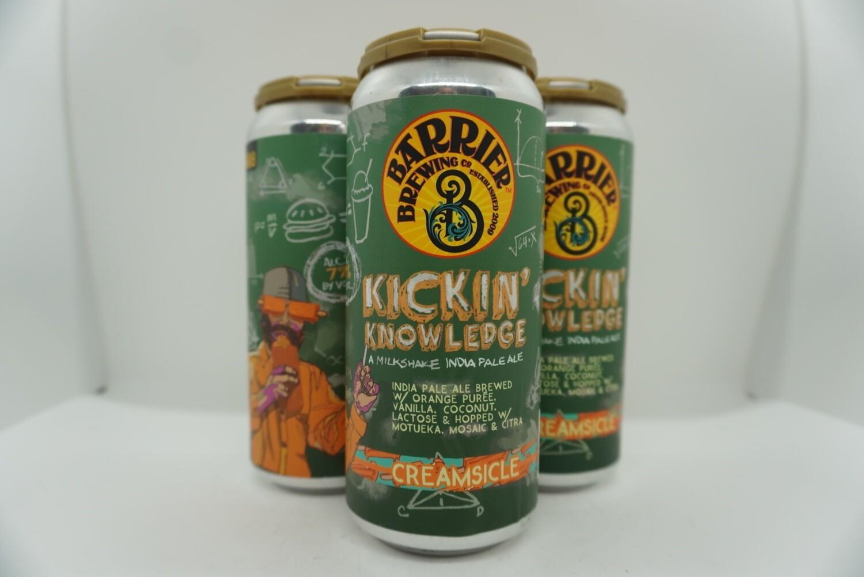 Barrier - Kickin' Knowledge: Creamsicle - Milkshake IPA - 7% ABV - 4 Pack