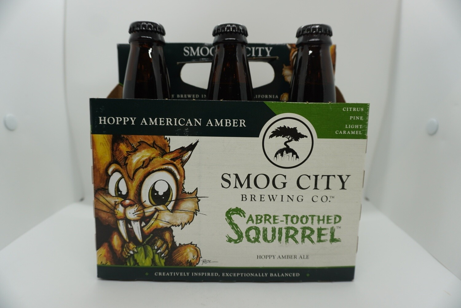 Smog City - Saber-Toothed Squirrel - Hoppy Amber Ale - 7% ABV - 6 Pack Bottles
