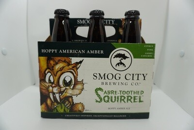 Smog City - Saber-Toothed Squirrel - Hoppy Amber Ale - 7% ABV - 6 Pack Bottles