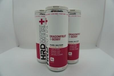 HRD WTR + Dragonfruit Berry - Seltzer - 4% ABV - 4 Pack