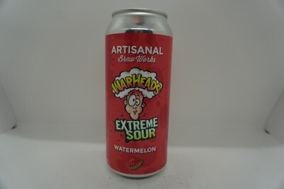 Artisanal Brew Works - Warheads Extreme Sour Watermelon - Sour Fruited - 5% ABV - 160z Can