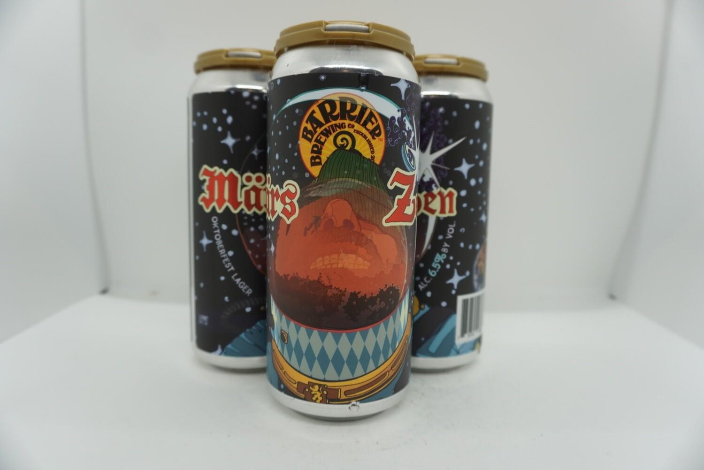 Barrier - Mars Zen - Marzen - 6.5% ABV - 4 Pack