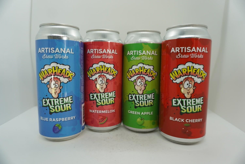 Artisanal Brew Works - Variety Pack - Green Apple, Watermelon, Black Cherry, Blue Raspberry
